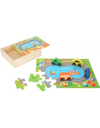 """Caja de puzle """"Tráfico"""""""