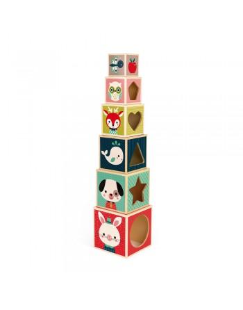 Pirámide de 6 cubos - Baby...