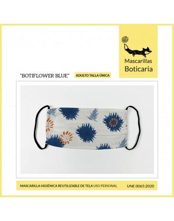 Mascarilla Boticaria-BOTIFLOWER BLUE (Adulto)