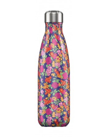 Botella Chilly's Floral - Rosa