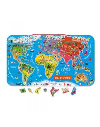 Mapa Atlas Mundial Magnético